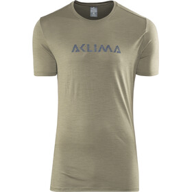 Aclima M's LightWool LOGO T-Shirt ranger green